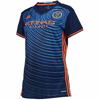 adidas Womens Ladies Football Soccer New York City FC Away Shirt 2016 Jersey