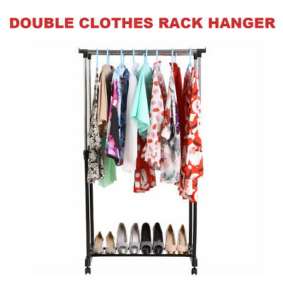 New Double Clothes Rack Hanger Garment Dryer Portable Stainless Steel