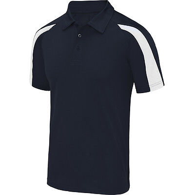Designa Just Cool Darts Shirt - Navy Blue with White - Breathable - Small to 2XL