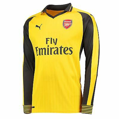 Puma Mens Gents Football Soccer Arsenal Away Long Sleeve Shirt Jersey 2016-17