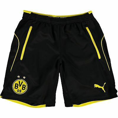 Puma Childrens Kids Football BVB Borussia Dortmund Training Shorts - Black