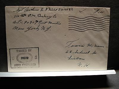 APO 9030 116th QM BAKERY Co WWII Censored Army Cover Soldier's Mail