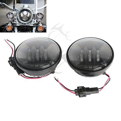 """4.5 """" Fog Light Work Driving Lamp For Harley Touring Dyna Softail Sportster XL"""
