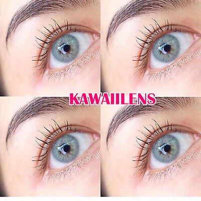 Contact Lenses Color Soft Power Eyes Cosmetic Lens Kontaktlinsen Mini AVA Gray