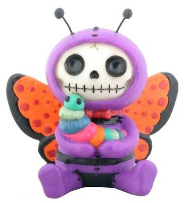 Furrybones Flutters Figurine Butterfly Skeleton Skull Gothic Cute Different Fun