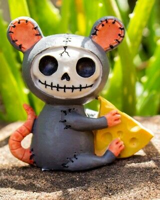 Furrybones Muenster Figurine Mouse Cute Different Skeleton Skull Gothic Gift Fun