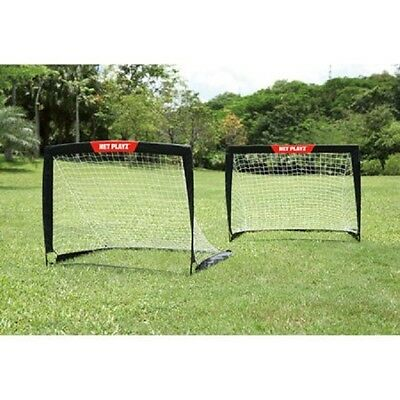 "Soccer Goals For Backyard Training Set of 2 Portable 4""x3"" Play Net Kids Sports"