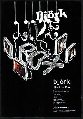 2003 Bjork The Live Box JAPAN promo print ad / mini poster advert b08r