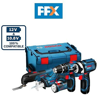 Bosch 108GSBGDRFIVE 10.8v 5pc Power Tool Kit 3 x 2.0Ah Li-ion