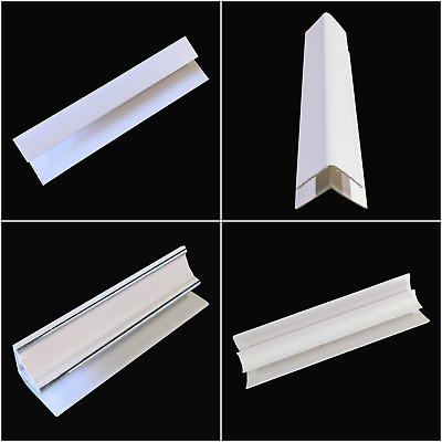 White 8mm Trims For Bathroom Wall Panels Shower Wall Ceiling Cladding PVC 2.6m