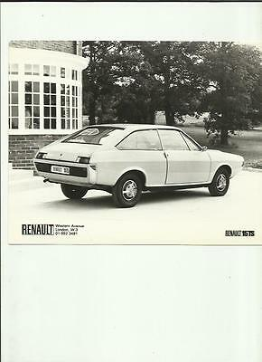 RENAULT 15TS PRESS PHOTO 'SALES BROCHURE connected'
