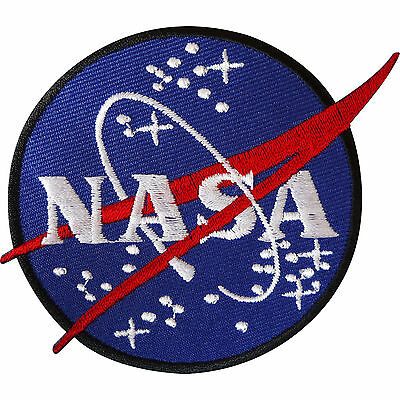 NASA Iron On Patch / Sew On Badge for Astronaut Space Fancy Dress Costume Jacket