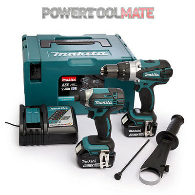 Makita DLX2180TJ Compact Combi Drill & Impact Driver c/w 2x 5.0Ah Batts & Charge