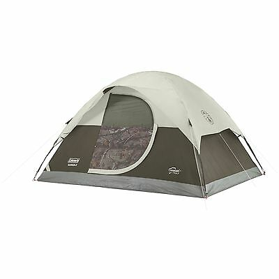 Coleman Realtree Xtra 4-Person Camo Dome Tent with Door Awning   2000019640