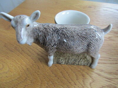 Delightful Goat With Egg Cup By Quail Pottery Boxed Ideal Gift