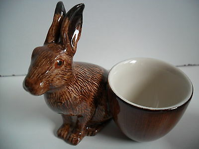 Quail Pottery Hare With  Egg Cup  Boxed Ideal Gift