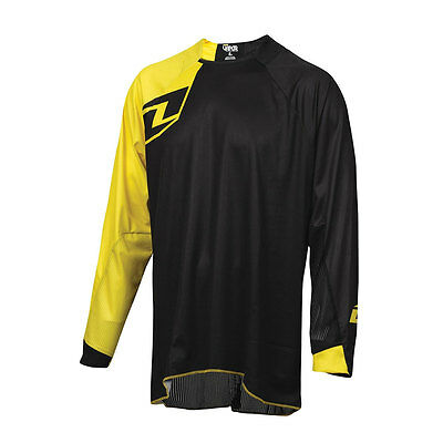 One Industries Vapor Solid Black / Yellow Motocross Mx Mtb Bike Cycle Jersey
