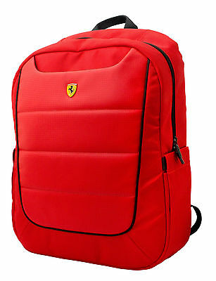 Genuine Ferrari SCUDERIA Rucksack BackPack Laptop School Travel Bags Red XL Size
