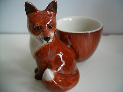 Quail Pottery Ceramic Fox Egg Cup  Boxed Great Gift Idea