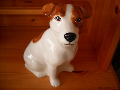 Large Jack Russell Ceramic Money Box  Boxed