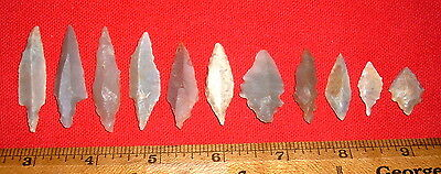 """(11) Select Mesolithic Points (.75""""-1.75"""") Prehistoric African Arrowheads"""