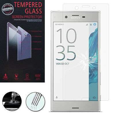 """Lot/ Pack Film Verre Trempe Protecteur Protection Sony Xperia XZ 5.2""""/Dual F8332"""