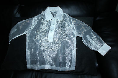 Barong Tagalog For Boys Pina Design Size 2 May Fit To 2-3 Years Old Boys
