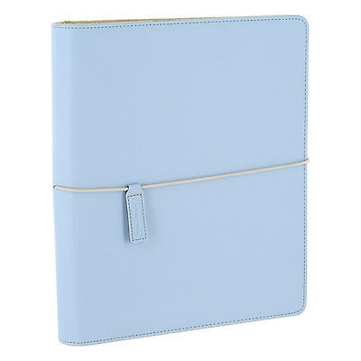 Wilson Jones WorkStyle Cut and Sewn Round Ring Binder, 1 Inch, Letter, Blue