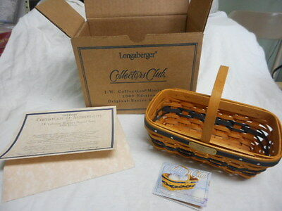 Longaberger 2003 Jw Collections Miniature Easter Basket New In Original Box