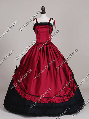 Victorian Gothic Dark Queen Dress Ball Gown Theater Reenactment Clothing 246