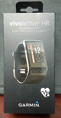Brand New Sealed Garmin Vivoactive HR GPS Smartwatch W/ Heart Rate Black