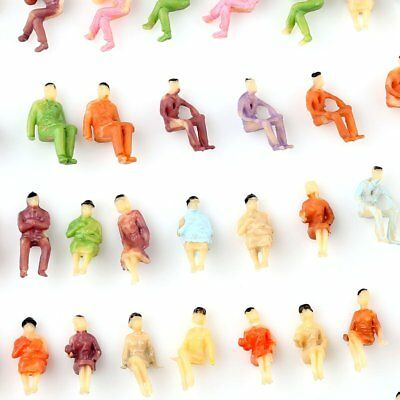 50 PCS HO scale ALL Seated People sitting figures Passengers 1:100