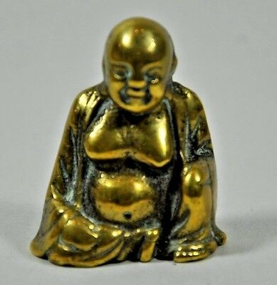 Antique Chinese Miniature Bronze/Brass Buddha Statue