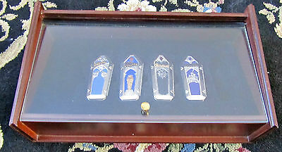 Franklin Mint Universal Studio Monster Set Of Four Monster Knives and Display