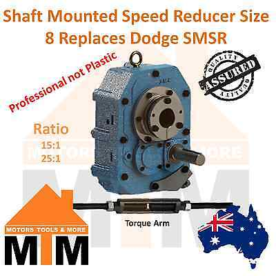 SMSR Shaft Mounted Speed Reducer Type D Size 8 Replace Dodge TXT 15:1 25:1 Ratio
