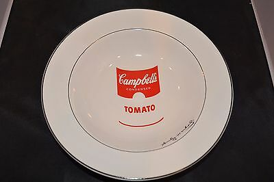 "Andy Warhol Campbell's Tomato Soup Bowl, 9"" By Block Pop"