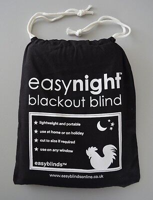 NEW! EasyNight Portable Blackout Blind 1.5m x 1.45m Fantastic for Travel!
