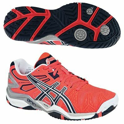 New Asics Gel-Resolution 5 Women's Tennis Shoes Sneakers Red/Black