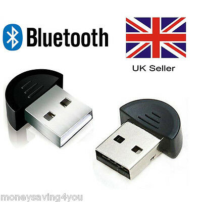 UK Wireless USB Bluetooth 2.0 Adapter Dongle EDR for PC Laptop Notebook Black