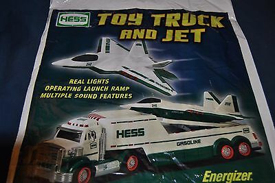 2010 HESS toy truck and jet bag