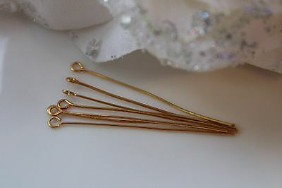 Discount Bulk Quantity - pins - pin-with Eyelet gold - 40mm
