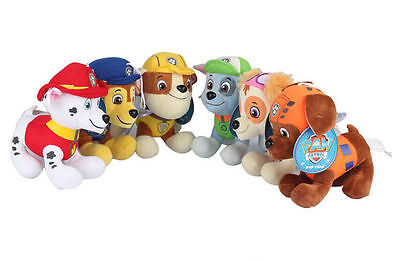 """4.7"""" PAW PATROL COMPLETE SET of 6 Cute Dogs Plush Doll Figure Toy 12CM"""