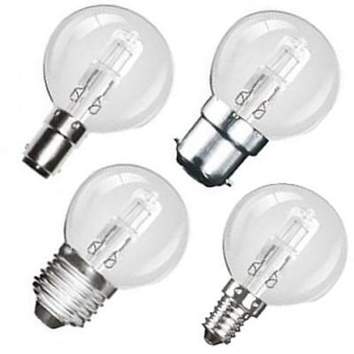 5 Pack 18W 28W 42W Golf Ball Eco Halogen Round Light Bulbs Lamps SES ES BC