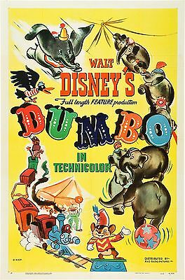 Dumbo Disney Movie Poster Film A4 A3 Art Print Cinema Vintage