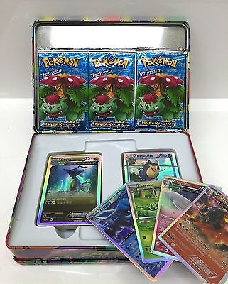 Pokemon Cards Pokemon Trading Card Game 111 Pieces Cards in Metal Box Kids Gift