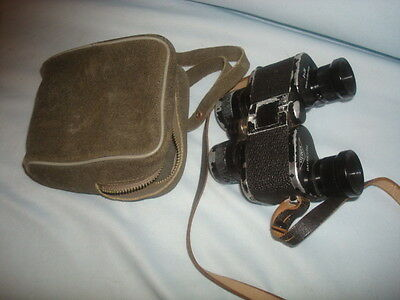 Early German Steiner German Binoculars With Case, 8X25 Power, Working