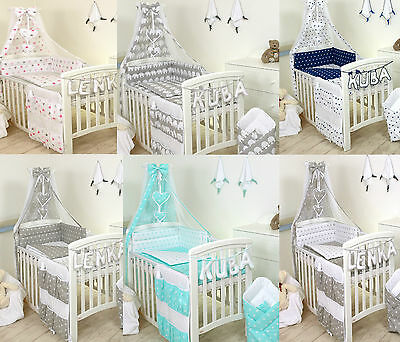 Cot Or Cot Bed Set 3,4,5 Pc -Bumper / Duvet  Cover / Pillowcase+More -Best Price