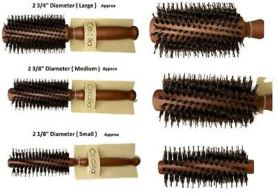 Annie Wooden Classic Round Radial Hair Brush Natural Boar Bristles Various Sizes
