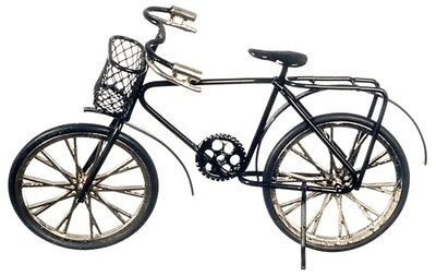 Dollhouse Miniature 1:12 Scale Bicycle, Black #G8140