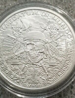 Antiqued Pieces of Eight 1 oz .999 Silver Fractional divisible privateer pirate